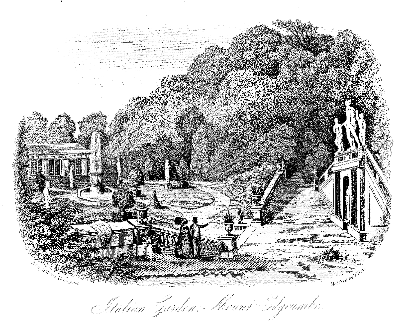 Sketch of The Orangery Mount Edgcumbe. Plymouth City Library